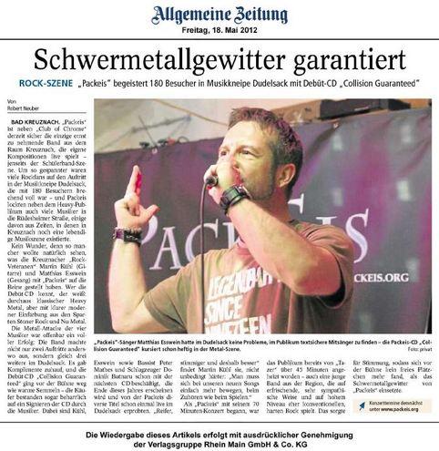 Allgemeine Zeitung Bad Kreuznach 06. Mai 2011